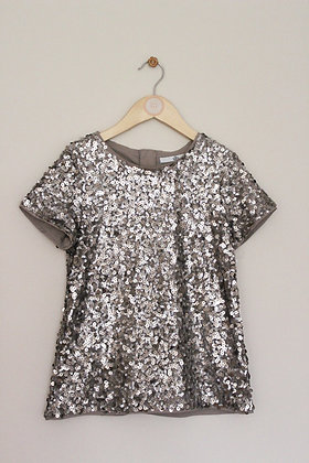 M&S gold sequinned top (age 10-11)
