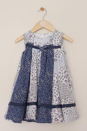 Mantaray sleeveless multi patterned layered dress (age 18-24 months)