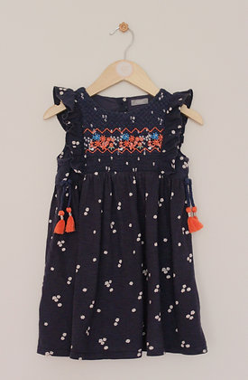 Next navy jersey dress with embroidered bodice (age 3-4)