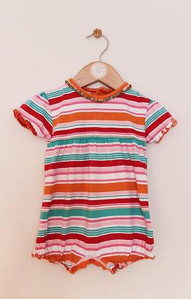 M&S bright striped romper (age 3-6 months)
