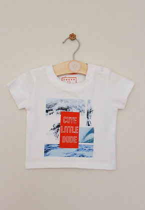 Early Days 'Cute little dude' t-shirt (age 6-9 months)