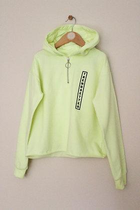 F&F fluro cropped hoodie (age 10-11)