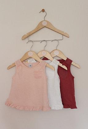 3 x TU jersey vest tops (age 12-18 months)