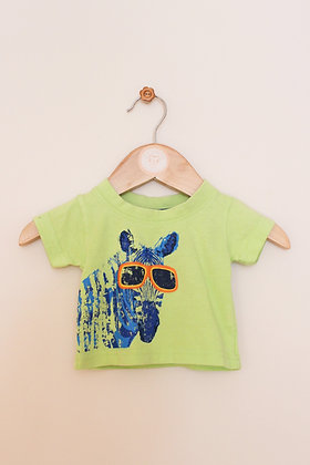 Early Days green zebra t-shirt  (Newborn / 7.5lb)