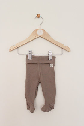 H&M fawn coloured leggings with feet (up to 1 month)