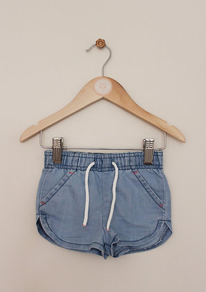 Pep & Co pull on chambray shorts (age 12-18 months)
