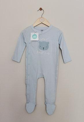 BNWT Mini Cuddles pale blue sleepsuit (age 6-9 months)