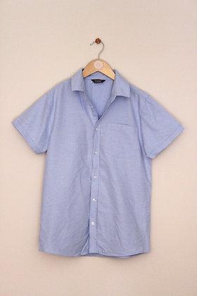 Primark short sleeved blue Oxford style shirt (age 12-13)