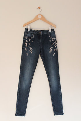 F&F embellished denim jeans (age 10-12)