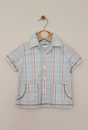 Colin & Colline (Vertbaudet) checked shirt (age 9 months)