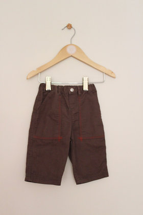 Petit Bateau brown cotton ribbed trousers (age 3 months)