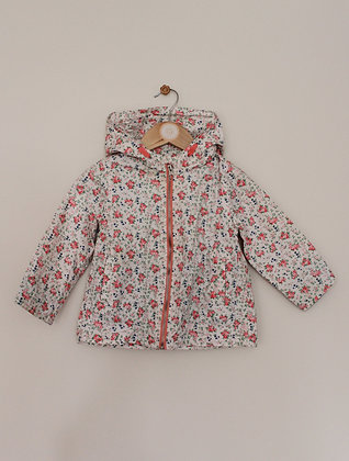 Zara cotton hooded floral jacket (age 18-24 months)