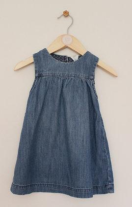 H&M denim sleeveless dress (age 12-18 months)