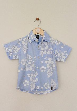 Zara Kids pale blue floral shirt (age 2-3)