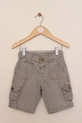 Mothercare stone cotton utility shorts (age 2-3)