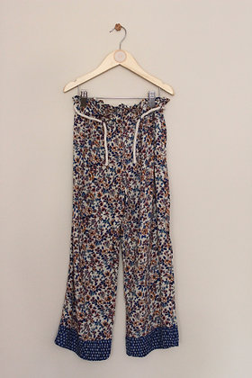 Zara wide leg trousers with floral print (age 10)