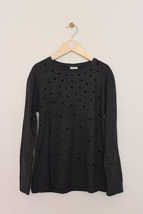 Zara charcoal grey long sleeved t-shirt (age 9-10)
