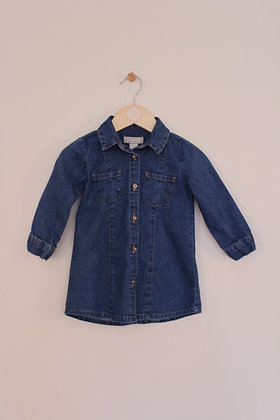 Primark denim shirt dress (age 12-18 months)