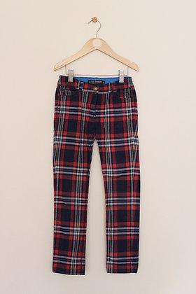 Mini Boden tartan cotton trousers/ jeans (age 8)