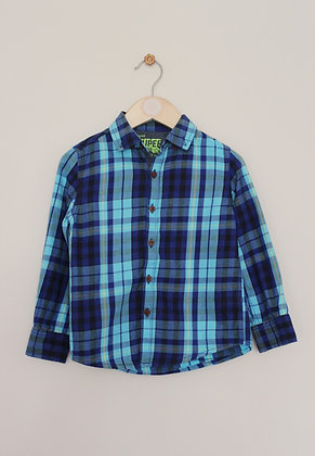 Next blue and turquoise checked shirt (age 3-4)