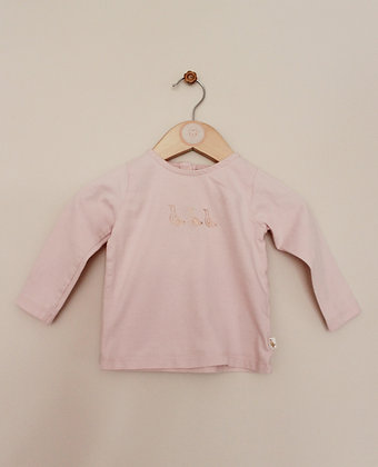 Next pale pink top with duck design (age 9-12 months)