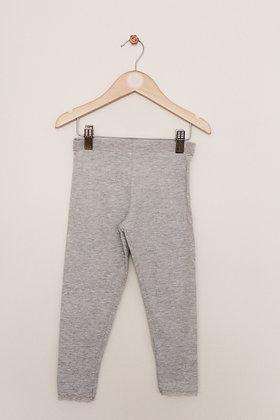 Nutmeg grey leggings with lace trim (age 5-6)