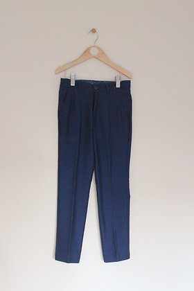 George navy crease leg smart trousers  (age 7-8)