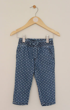Gap Denim pull on spotted trousers (age 6-12 months)