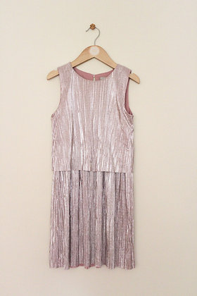 TU mock layer metallic pink dress (age 8)
