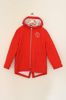 Mango cotton lined hooded jacket (age 7-8)