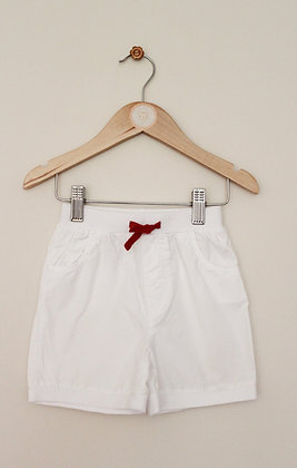 Junior J white cotton pull on shorts (age 9-12 months)