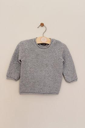 Primark grey ribbed jumper (age 0-3 months)
