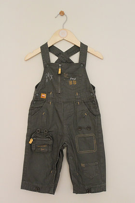 Orchestra khaki utility style dungarees (age 12 months)