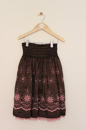 Patch Princess silk effect layered skirt (age 6)