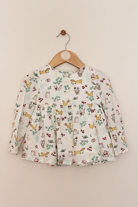 John Lewis lined swing cotton top (age 12-18 months)