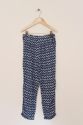 Next lightweight blue and beige summer trousers (age 8)