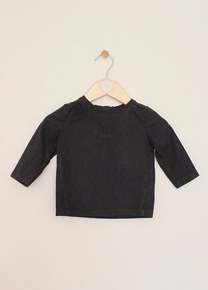 Next black long sleeved t-shirt (age 3-6 months)