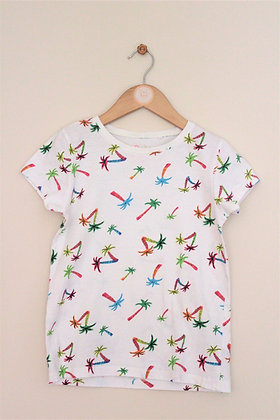 Next palm tree patterned short sleeve t-shirt (age 9)