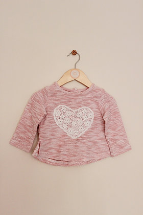Young Dimension cotton blend textured sweater (age 9-12 months)