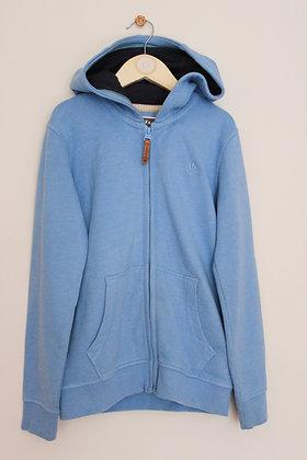 Fatface sky blue zip through hoodie (age 8-9)