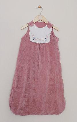 TU dusky pink velour sleeping bag (2.5 tog) (age 12-18 months)