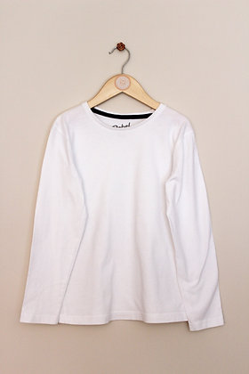 Rebel by Primark white long sleeved t-shirt (age 8-9)