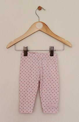 Primark pink spotty leggings (age 3-6 months)