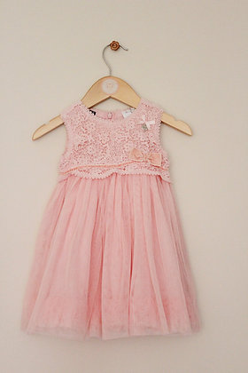 Le Chic pink occasion dress (age 12 months / 80)