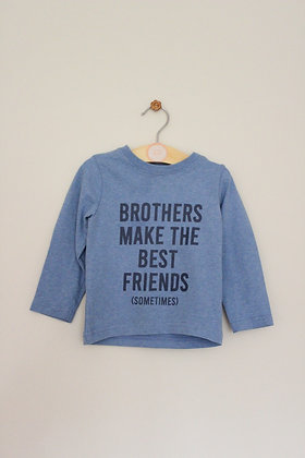Nutmeg 'Brothers make the best friends' top (age 12-18 months)