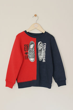 Converse All Star block colour sweatshirt (age 5-6)