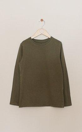 H&M basic organic cotton khaki top  (age 8-10)