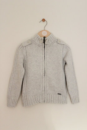Okaidi basics cotton stone zip through cardigan (age 4)