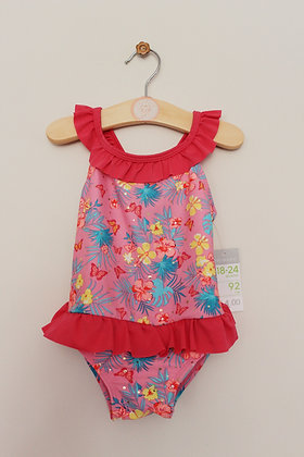 BNWT Primark pink floral sparkly swimsuit (age 18-24 months)