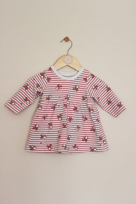 Buttons Hippo striped mouse design tunic  (3-6 months)